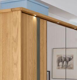 MUSTERRING Funktions-Kleiderschrank Sorrent optional mit Massivholz-Rahmen