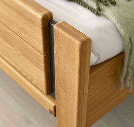 MUSTERRING Komfort-Einzelbett Sorrent mit hochwertigen Fräsungen