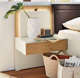 Musterring Nachttisch Saphira Weiß in trendigem Design