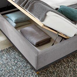 MUSTERRING Polsterbett Delphi Variante B mit gelochter Bodenplatte im Bettkasten