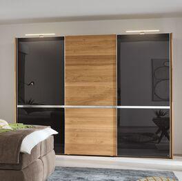MUSTERRING Schwebetüren-Kleiderschrank Savona Graphit in modernem Design
