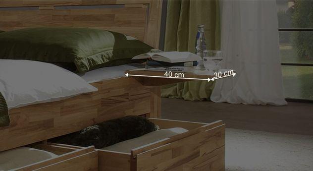 Nachttisch Andalucias Bemaßungsgrafik