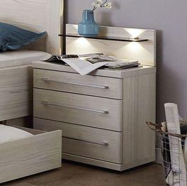 Komfort-Einzelbett Apolda mit unterschiedlich hohen Schubladen
