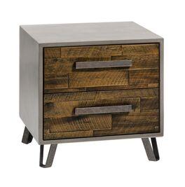 Nachttisch Banvano mit betonfarbigem Korpus