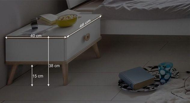 Infografik zu den Maßen vom Nachttisch Beano