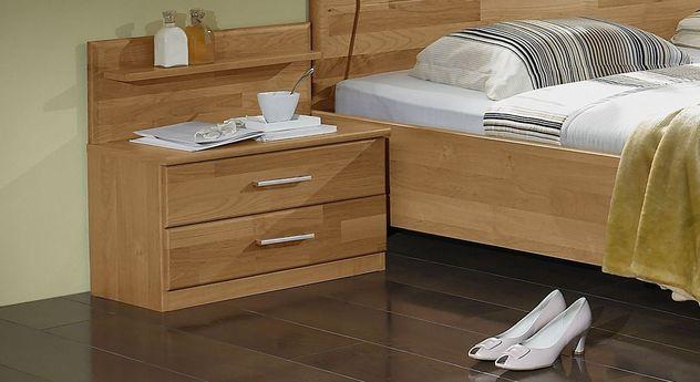 Nachttisch Beyla mit zwei praktischen Schubladen