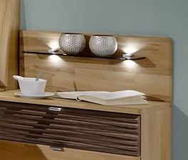 Nachttisch Burbia mit elegantem Wandpaneel