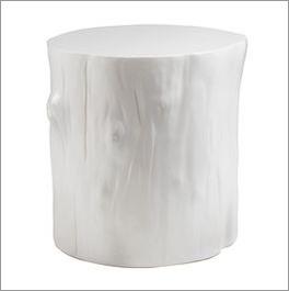 Nachttisch Calvia aus weiß lackiertem Beton
