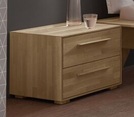 Nachttisch Casevio mit schmalen Holzgriffen