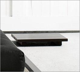 Niedriger Nachttisch Cimino aus Massivholz