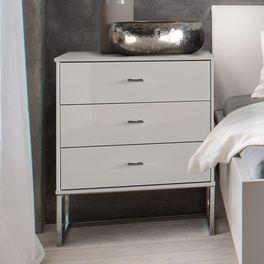Nachttisch Crawley Komfort mit drei Schubladen