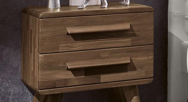 Schubladengriffe des Nachttisches Espargo optional aus Holz