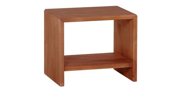Eleganter Nachttisch Estra aus kirschbaumfarbener Buche