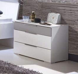 Nachttisch Florice in Weiß und Grau