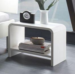 Moderner Nachttisch Gamba mit Ablagefläche