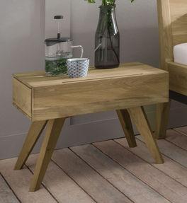 Nachttisch Gordola aus biologisch geöltem Massivholz