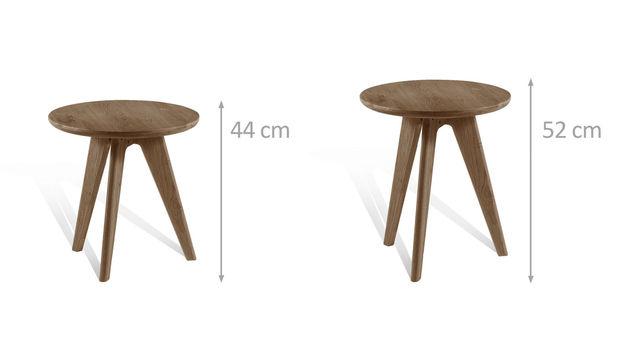 Nachttisch und Hocker in unterschiedlichen Höhen erhältlich