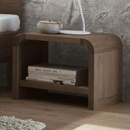 Nachttisch Ingrasso aus steingrauem Eichenholz