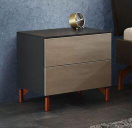 Nachttisch Istari in trendigem Materialmix