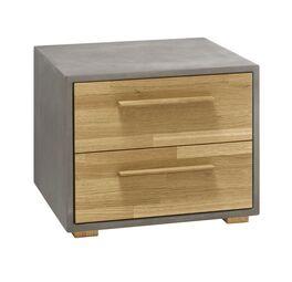 Nachttisch Kismet mit betonfarbigem Korpus