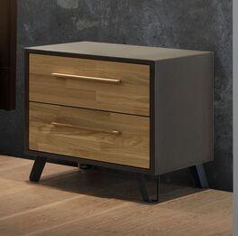 Nachttisch Kismet in trendigem Materialmix