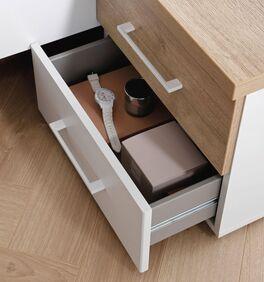 Nachttisch Leona Innenansicht der Schubladen