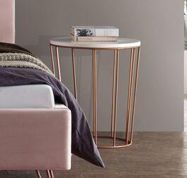 Nachttisch Marfasia mit kupferfarbener Metallgestell