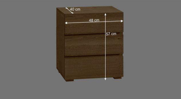 nachtschrank aus eiche mit schubladen natura. Black Bedroom Furniture Sets. Home Design Ideas