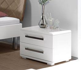 Weiß lackierter Nachttisch Perama  aus Buche