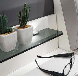 Nachttisch Shanvalley optional mit LED Beleuchtung