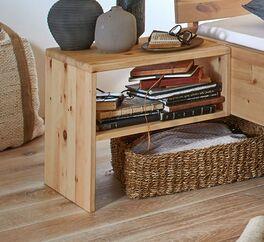 Nachttisch Tosa aus natürlichem Zirbenholz