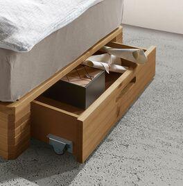 Palettenbett Nimba mit geräumiger Schublade
