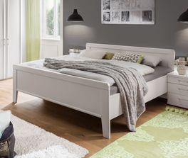 Preiswertes Komfort-Doppelbett Calimera in Weiß