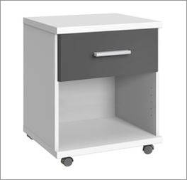 Rollcontainer Facundo mit robusten Kunststoff-Rollen