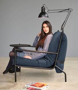 Schlafsessel Staines mit optionaler Lampe und Tisch