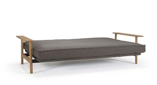 schlafcouch mit matratze und armlehnen in vielen farben. Black Bedroom Furniture Sets. Home Design Ideas