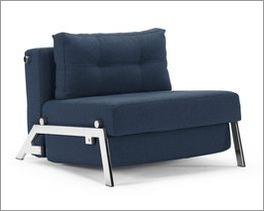 Design-Schlafsofa Dowing in weichem Webstoff