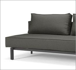 Sofa Ellwood mit bequemen Stoffbezug als Schlafgelegenheit