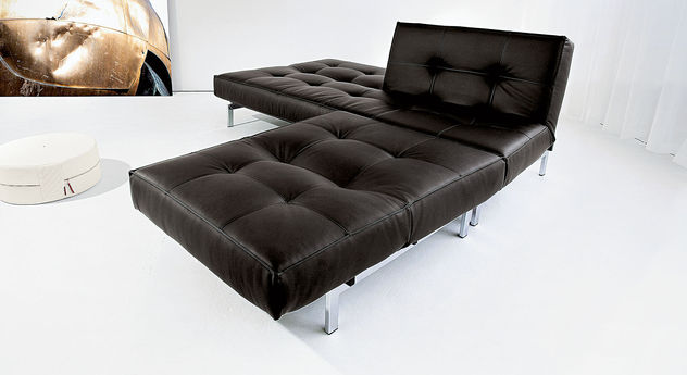Edles Schlafsofa Flash Light 01 in Schwarz