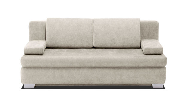 Schlafsofa Hill-Brook mit Webstoff in Beige