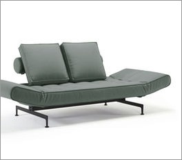 Modernes Schlafsofa Lampard in grauem Webstoff
