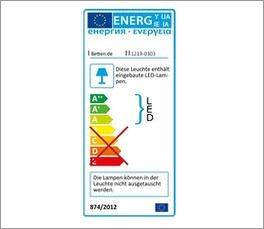 Schminktisch Dolavon mit Kennzeichnung zum Energieverbrauch