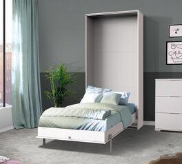 Platzsparendes Schrankbett Milagro in schlichtem Weiß