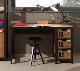 Schreibtisch Belis Schubladen mit Griffmulden