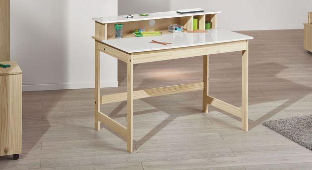 Preiswerter Schreibtisch Erin aus massivem Kiefernholz
