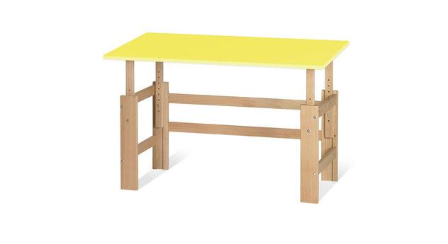 Schreibtisch Kids Town höhenverstellbar in Gelb