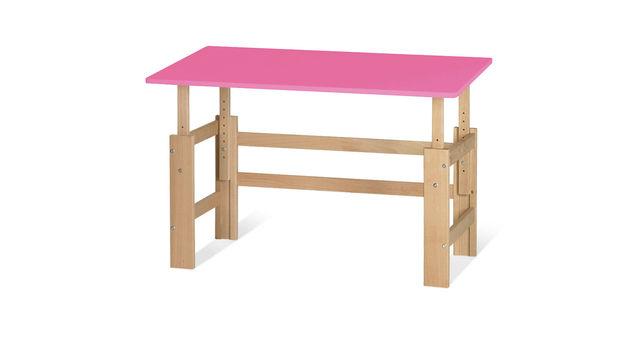 Schreibtisch Kids Town höhenverstellbar in Pink