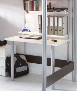 Platzsparender Anbau-Schreibtisch Kim aus MDF