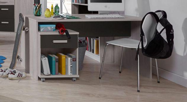Schreibtisch Mereto mit pflegeleichter Dekor-Oberfläche