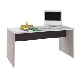 Schreibtisch Mereto mit lavafarbenem Element